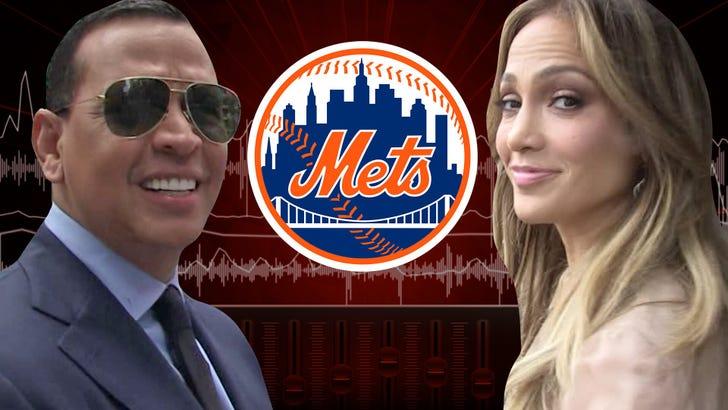 Jennifer Lopez and Alex Rodriguez NY Mets