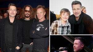 Brad Pitt Resurfaces For Malibu Charity Concert (PHOTO GALLERY)