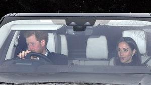 Prince Harry and Meghan Markle Take a Drive to Grandma's Palace