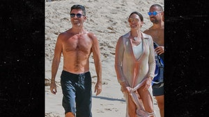 Simon Cowell Looking Slim with GF Lauren Silverman in Barbados