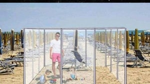 Italian Co. Proposes Summer Beach Cubicles, Lifeguard Orgs Crap On Idea