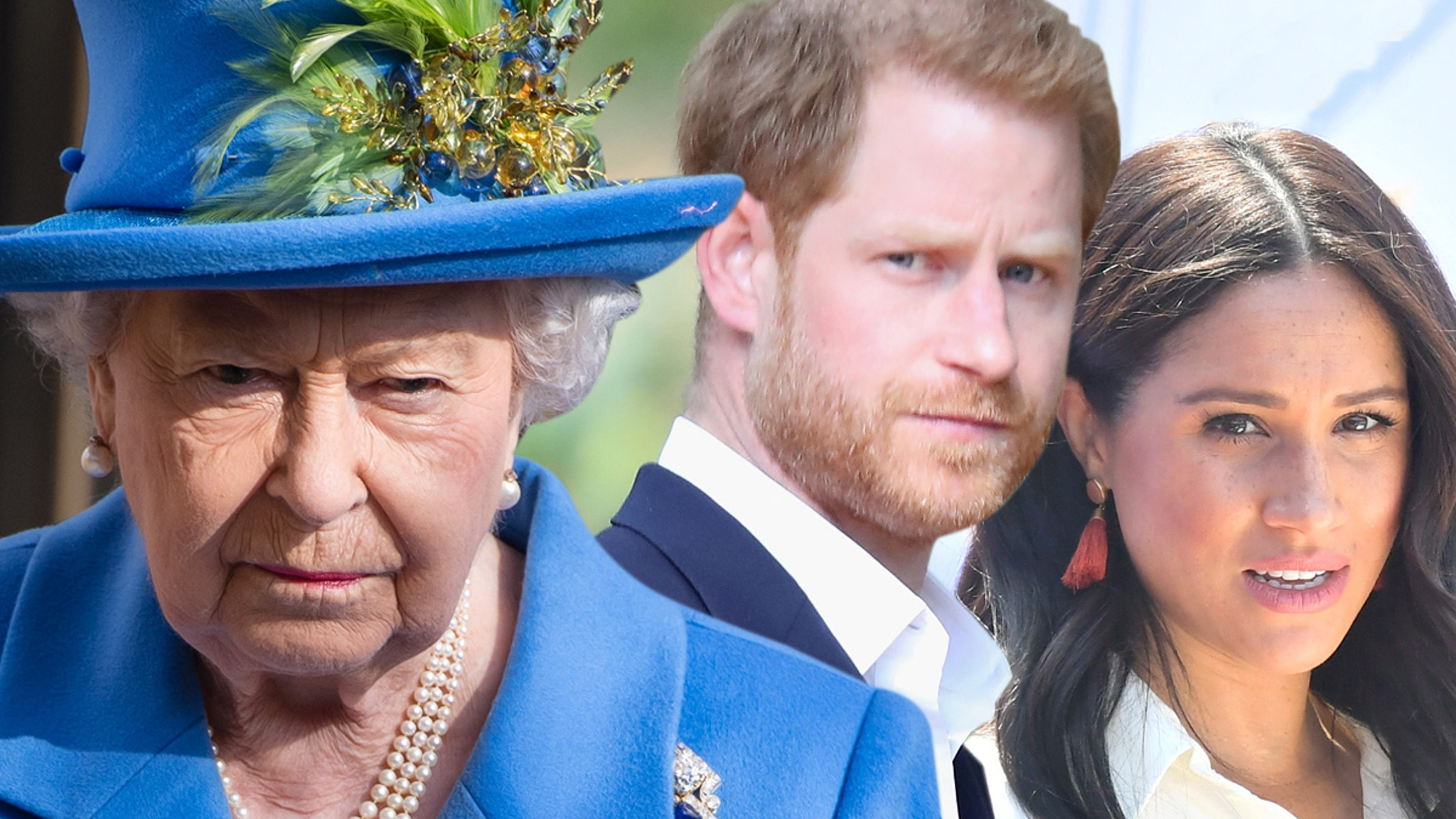 Queen Orders Meghan & Harry to Drop 'Royal' From Sussex Brand