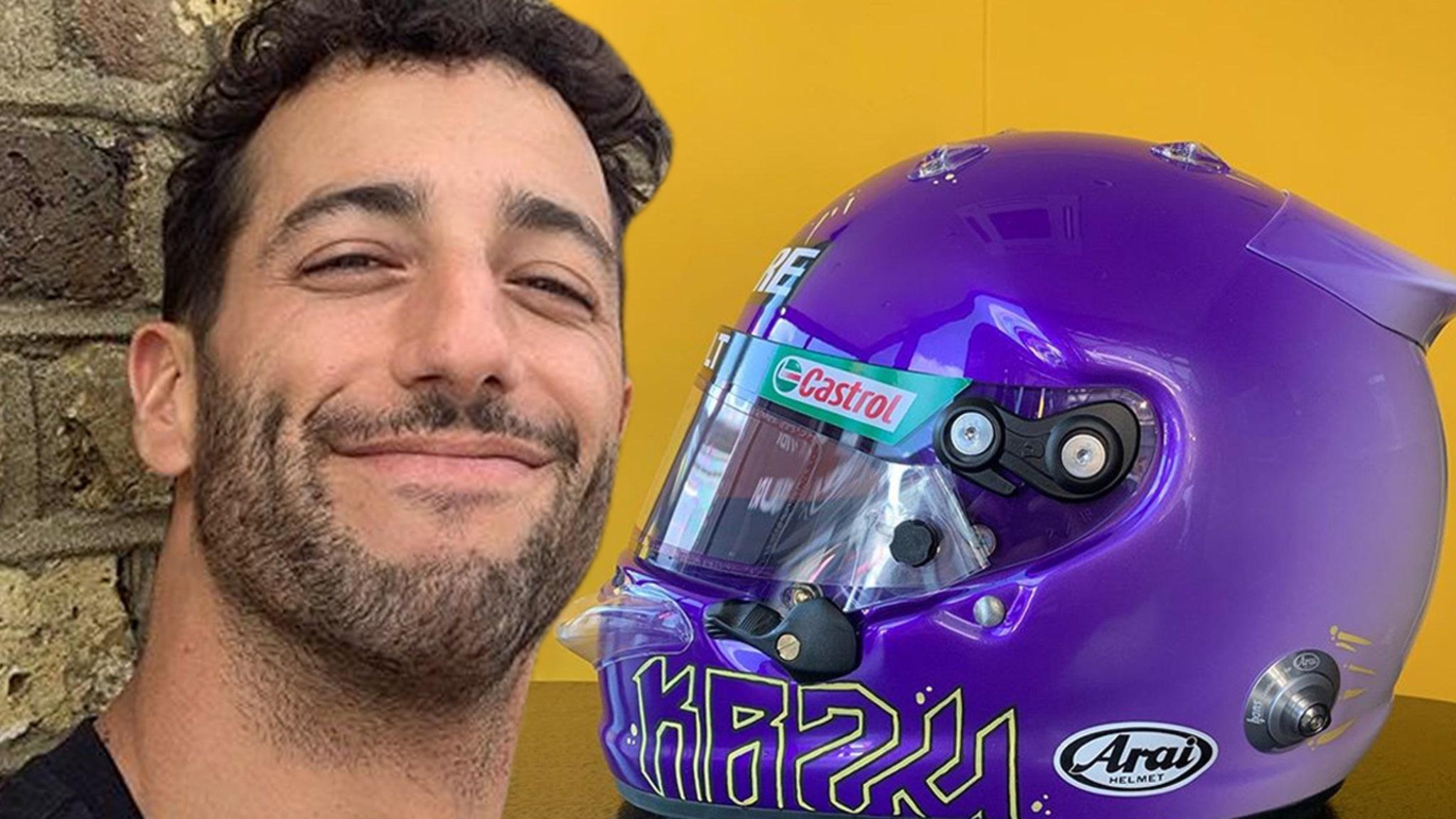 F1 Superstar Daniel Ricciardo Honors Kobe Bryant With Dope Helmet Design