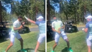 Steph Curry Spars With Canelo On Golf Course, You Got A Death Wish, Bro?!