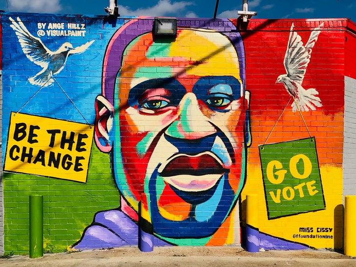 George Floyd Hometown 'Vote' Mural
