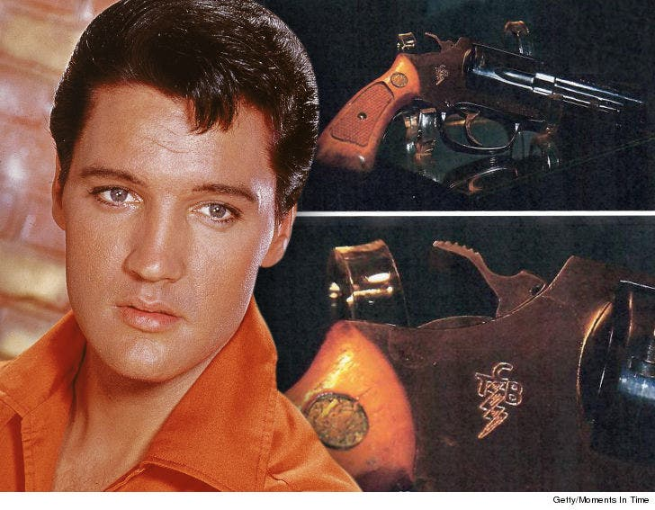 Elvis Presley's Personal 'T C B ' Revolver Up for Sale for $95k