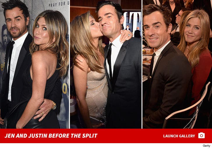 Jennifer Aniston and Justin Theroux -- Before The Split