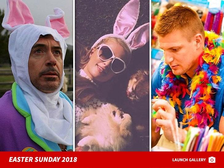 Celebs Celebrating Easter Sunday 2018