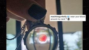Machine Gun Kelly Wears Megan Fox's Blood in Orb Necklace
