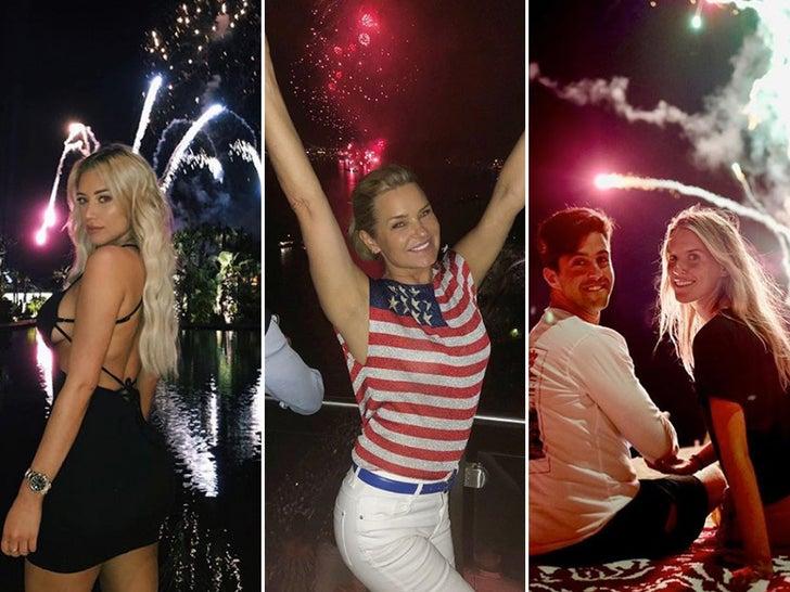 Famous Faces Under Fireworks -- Bangin'!