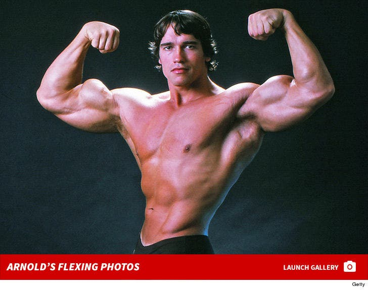 Arnold Schwarzenegger's Flexing Photos