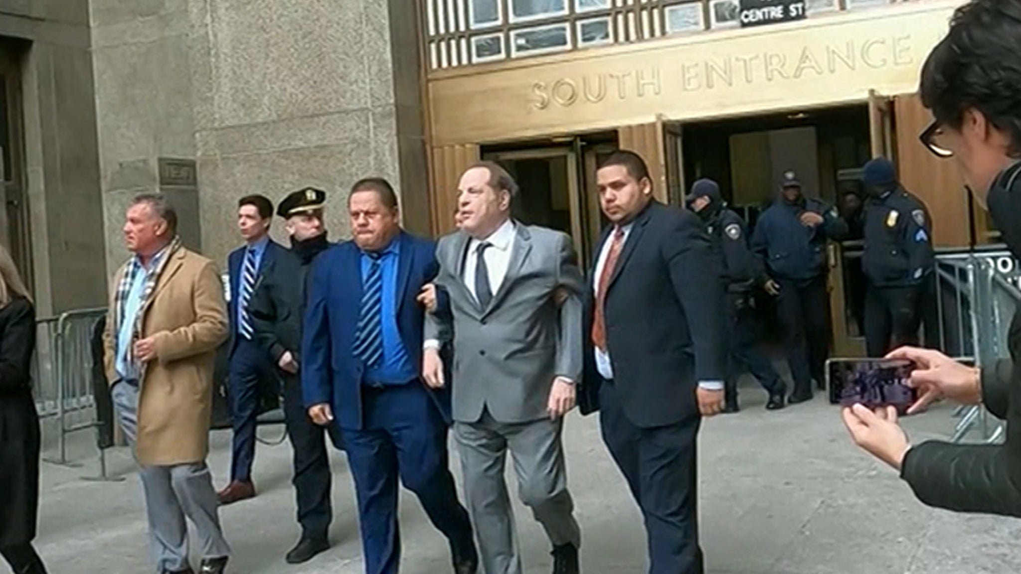 Harvey Weinstein Can Barely Walk Out of Court Due To Back Pain