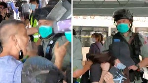 Hong Kong Mother's Day Protest Ends with Riot Police Confrontation at Shopping Mall