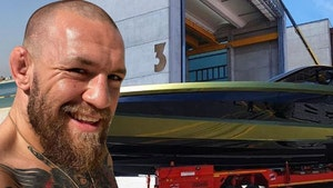 Conor McGregor Unveils $3.6 Million Lambo Yacht, She's Finally Here!
