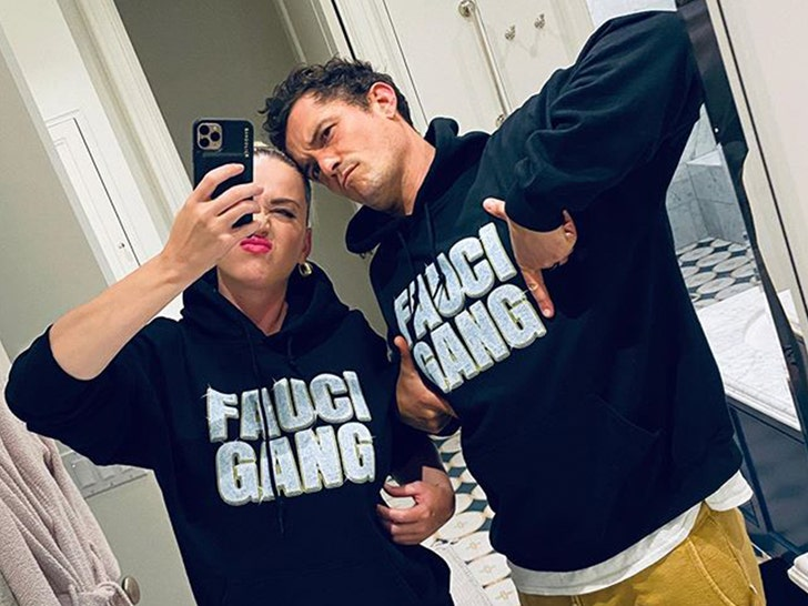 Orlando Bloom and Katy Perry Show They're Team Fauci