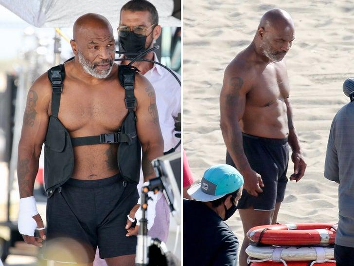 Mike Tyson -- Ripped Beach Shoot