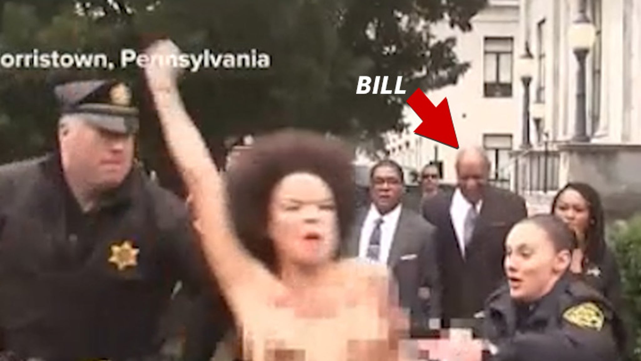 Bill Cosby Attacked by Topless Womens Lives Matter