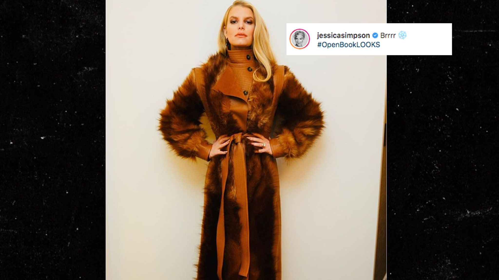 Jessica Simpson Wears Faux-Fur Coat on Book Tour on Heels of Protests