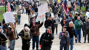 Massive Michigan Protest Opposing Governor's Stay-At-Home Order