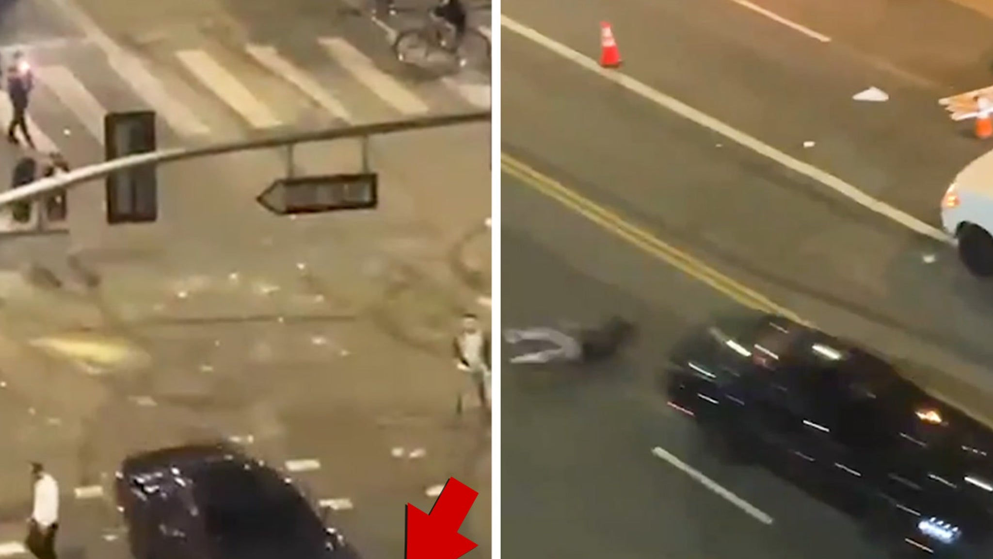 Dodgers Celebration Car Hits Cyclist ... Fires, Looting, Cops and More