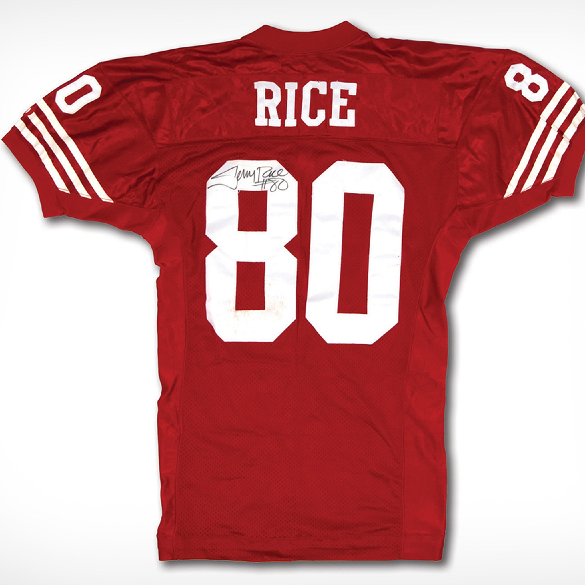 Jerry Rice Autographed Jersey Hits Auction, Last TD From Joe Montana Ever!