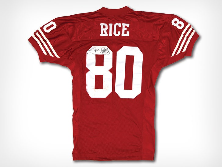 buy online bac75 ab0e5 Jerry Rice Autographed Jersey Hits Auction, Last TD From Joe ...