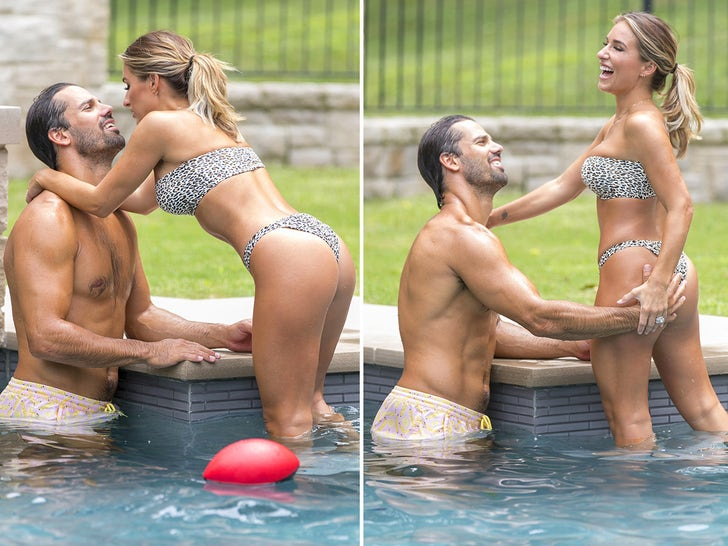 Eric Decker and Jessie James -- Two-Hand Touch in Pool