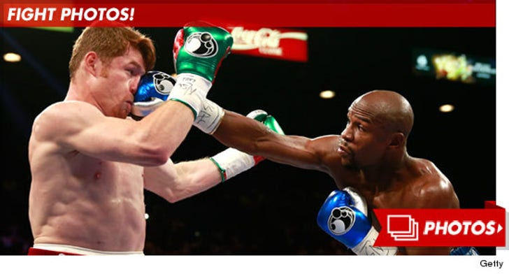 Mayweather vs. Canelo -- Fight Photos!