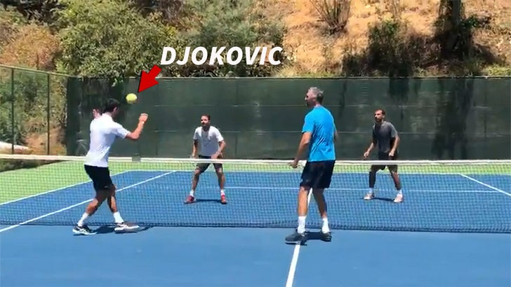 Novak Djokovic Plays Soccer Tennis Dominates