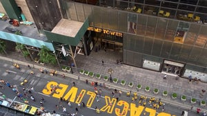 'Black Lives Matter' Mural Painted in Front of Trump Tower in NYC