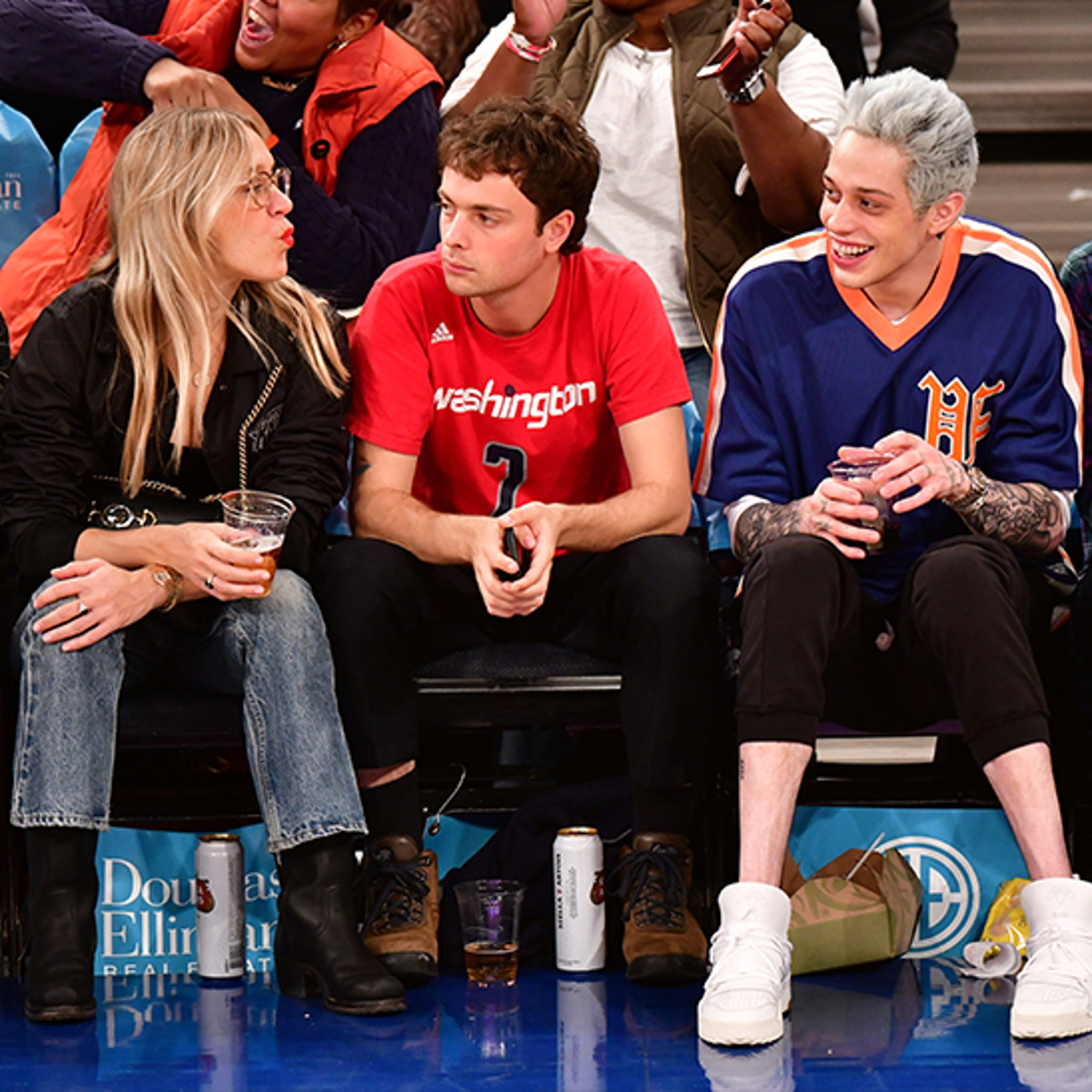 Pete Davidson Looks Happy at Knicks Game After Addressing
