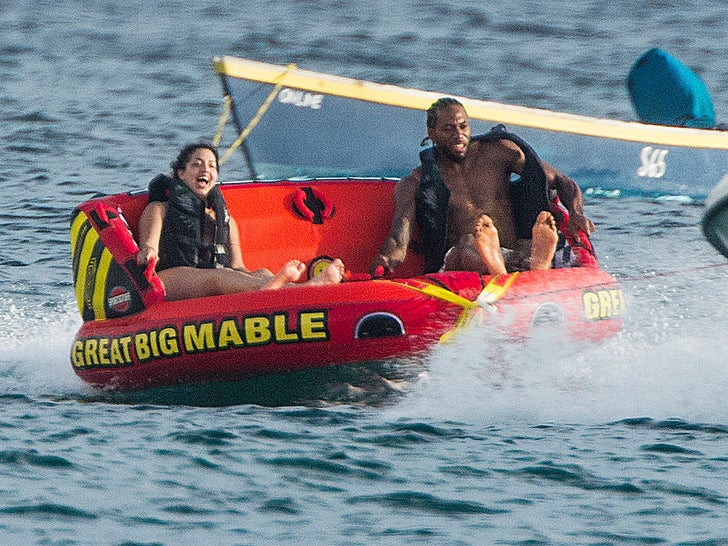 Kawhi Leonard Floatin' Through Barbados