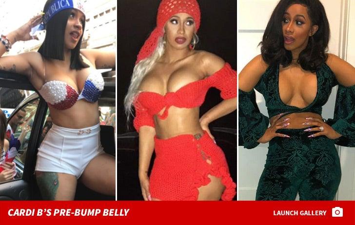 Cardi B's Pre-Bump Belly
