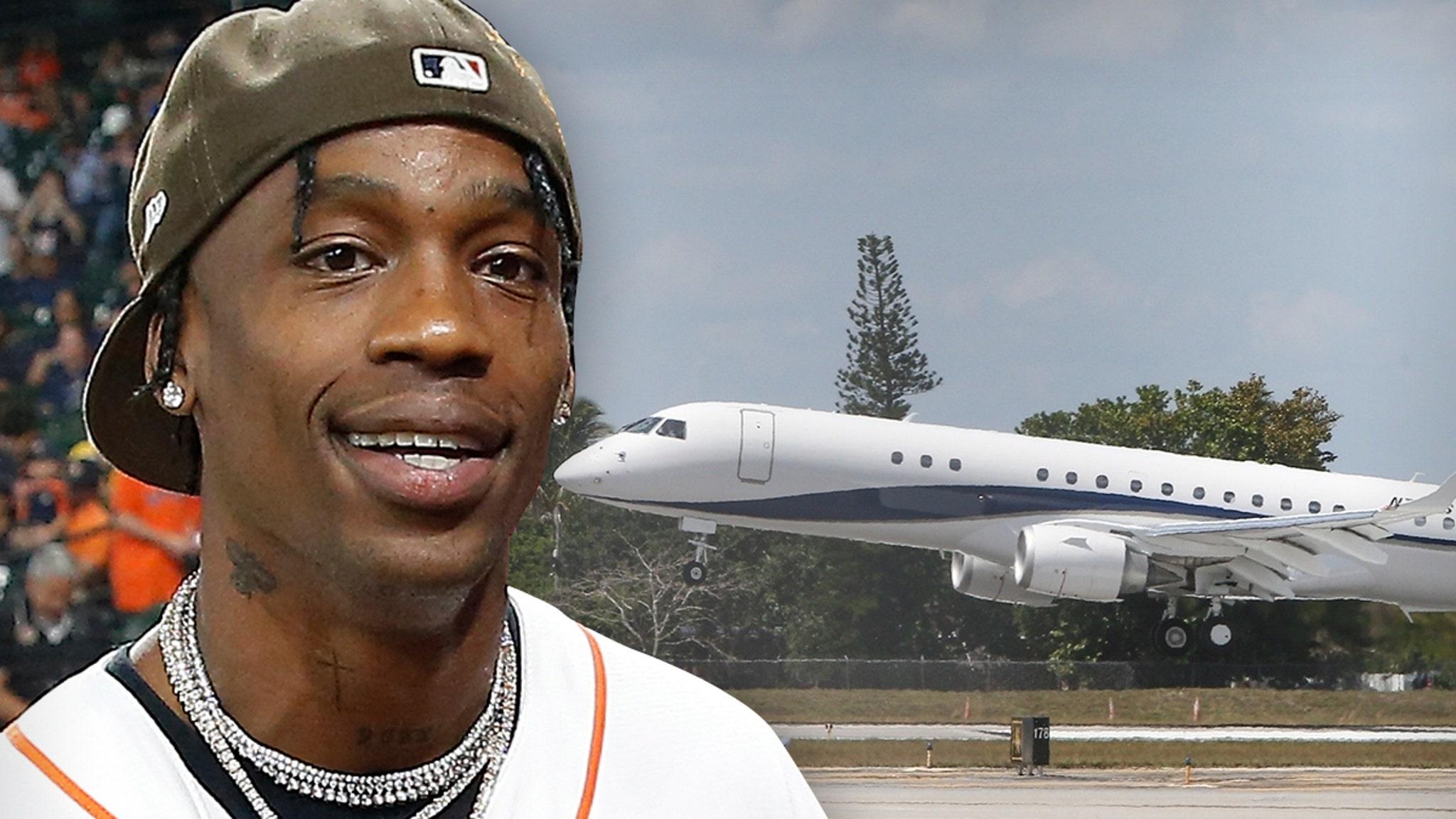 Travis Scott Celebrates 29th Birthday on Enormous Jet
