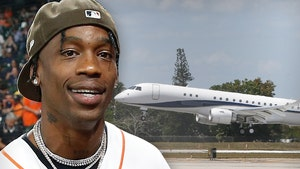 Travis Scott Celebrates 29th Birthday on Enormous Jet