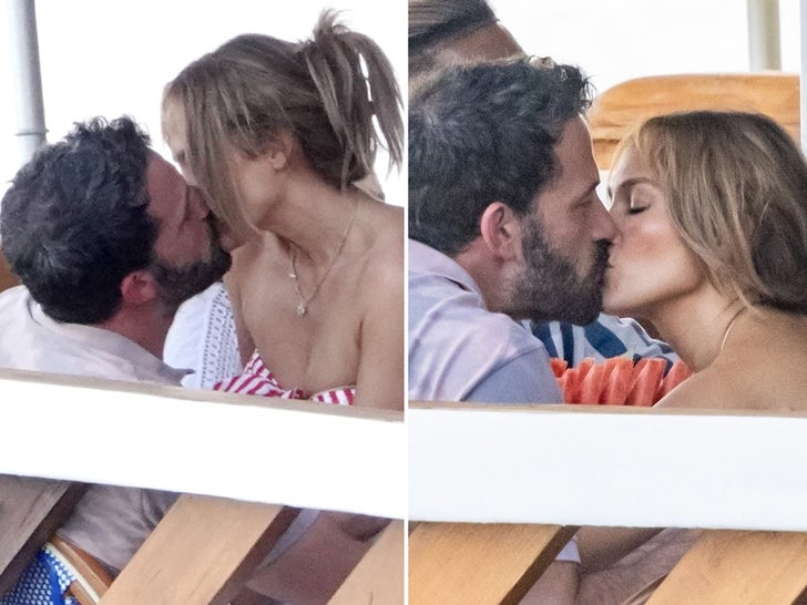 J Lo Gets All Up in Ben Affleck's Lap While Kissing in Italy