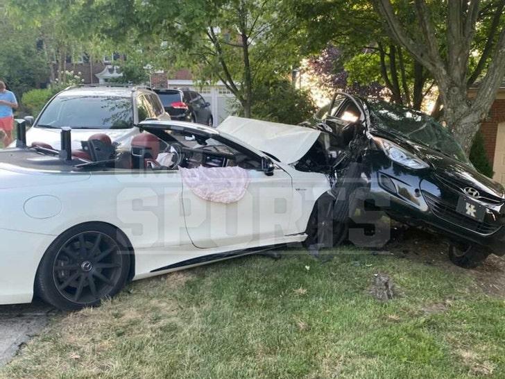 Rey Maualuga Car Crash Scene
