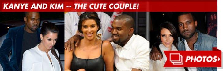 Kim and Kanye -- The Cute Couple