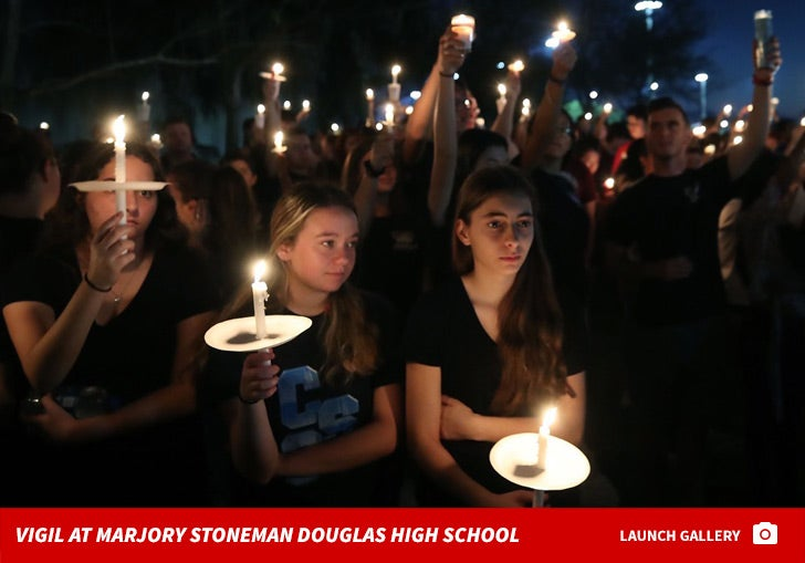 Candle Vigil at Marjory Stoneman Douglas High School