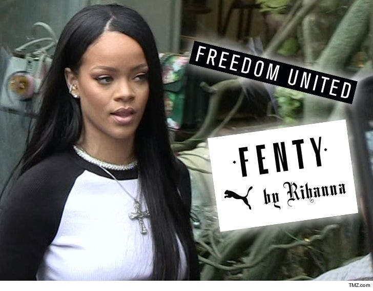 finest selection 78185 10d16 Rihanna's Fenty Clothing Brand Accused of Jacking 'FU' Trademark