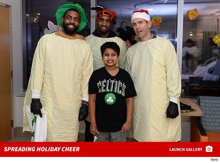 Boston Celtics Spread Holiday Cheer at Children's Hospital