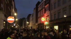 London Streets, Pubs Packed for 'Super Saturday'