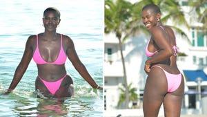 Saje Nicole's Bikini-Clad Beach Day