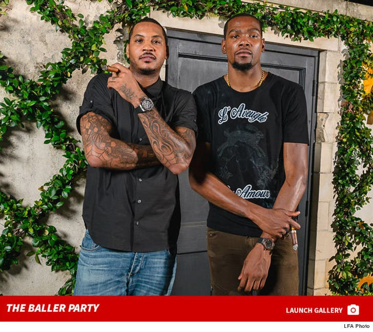 Kevin Durant & Carmelo Anthony -- Wine, Cigars, & Expensive Watches ... At Olympic Sendoff Party