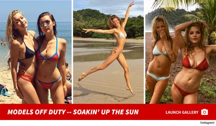 Models off Duty -- Soakin' Up The Sun