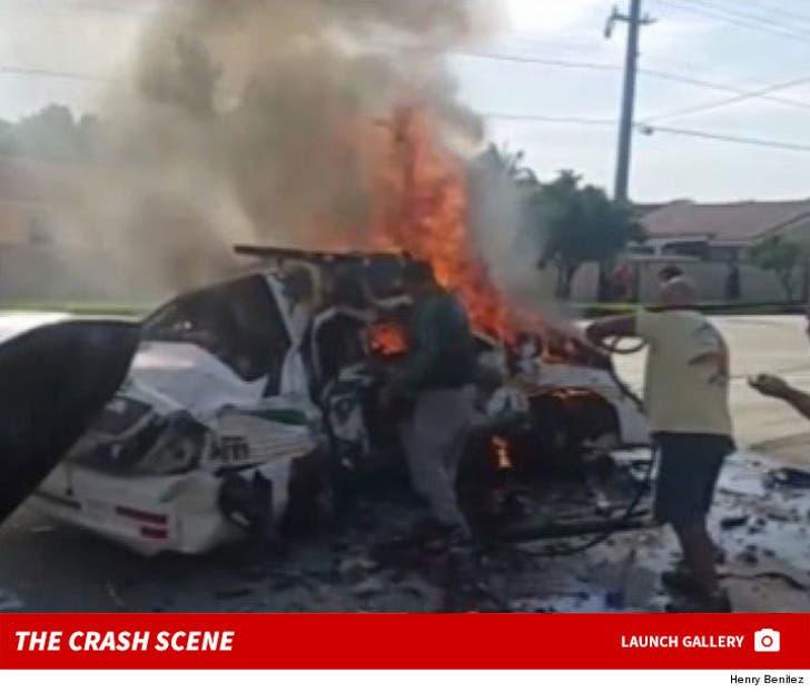 Atlanta Braves' Sean John Rodriguez Crash Scene