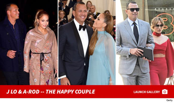 Jennifer Lopez and Alex Rodriguez -- The Happy Couple