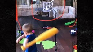 MLB's Freddie Freeman's 2-Year-Old Son Hits Living Room Bombs w/ Amazing Swing