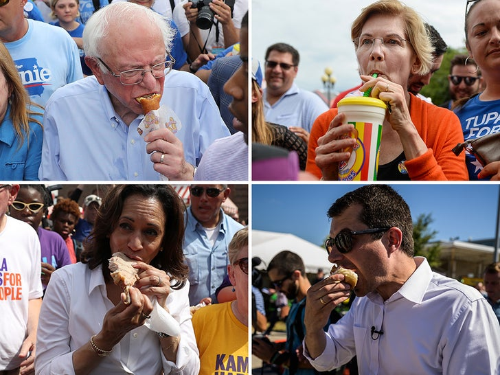 Presidential Candidates Eating Food -- Fill 'Er Up!