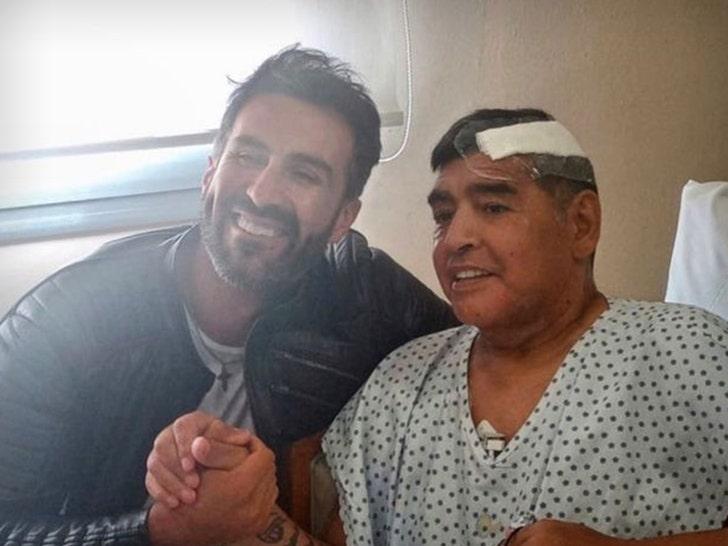 Soccer Legend Diego Maradona All Smiles After Emergency Brain Surgery
